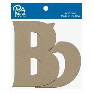 "4"" Chipboard Letter, 2pk- Bb"