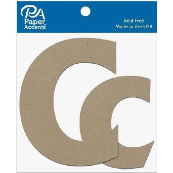 "4"" Chipboard Letter, 2pk- Cc"