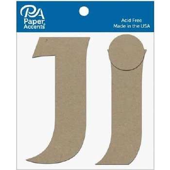 "4"" Chipboard Letter, 2pk- Jj"