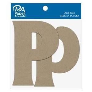 "4"" Chipboard Letter, 2pk- Pp"