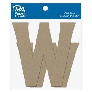 "4"" Chipboard Letter, 2pk- Ww"