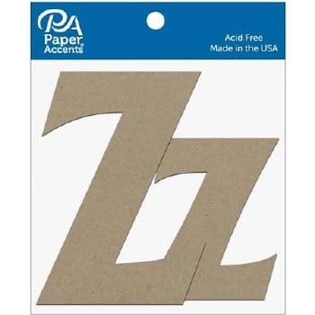 """4"""" Chipboard Letter, 2pk- Zz"""