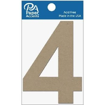 """4"""" Chibpoard Number, 2pk- 4"""