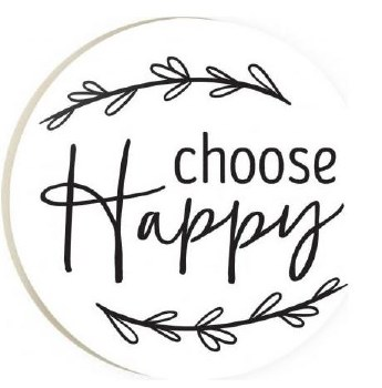 Car Coaster- Choose Happy