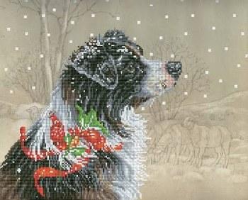 Diamond Facet Art Kit- Christmas Collie