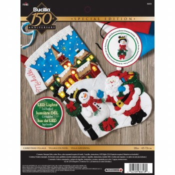 Bucilla Felt Stocking Kit- Christmas Village