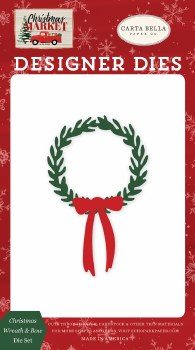 Christmas Market Designer Dies- Christmas Wreath & Bow