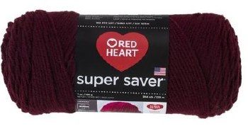 Red Heart Super Saver Yarn- Claret
