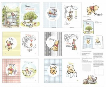 Licensed Fabric Panel- Pooh Soft Book