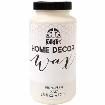 FolkArt Home Decor Wax 16 oz- Clear
