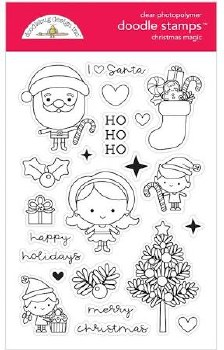 Christmas Magic Stamps/Dies- Christmas Magic Doodle Stamps