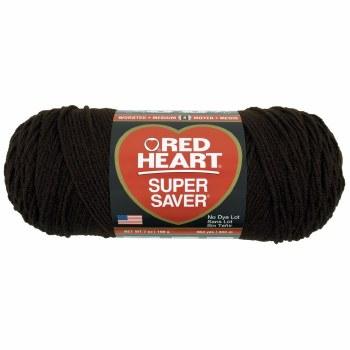 Red Heart Super Saver Yarn- Coffee
