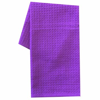 "Waffle Weave 20""x28"" Tea Towel- College Purple"