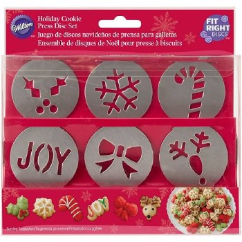 Cookie Press Christmas Disc Set, 6pc