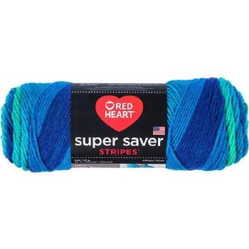 Red Heart Super Saver Yarn, Stripes- Cool