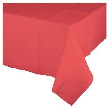 """Touch of Color Plastic Tablecover 54""""x108""""- Coral"""