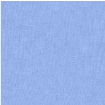 "Kona Cotton 44"" Fabric- Blues- Cornflower"
