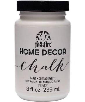 FolkArt Home Decor Chalk Paint 8 oz- Cottage White