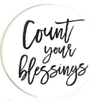Car Coaster- Count Your Blessings