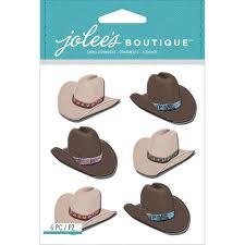 Jolee's Dimensional Stickers- Cowboy Hats