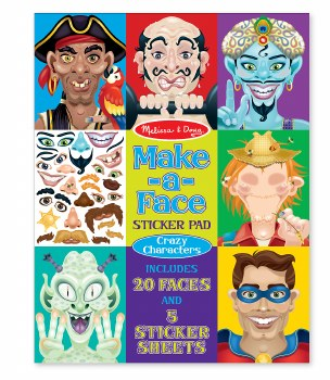 Melissa & Doug Make a Face Sticker Pad- Crazy Characters