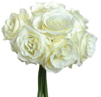 Ashley Rose Wedding Bouquet- Cream