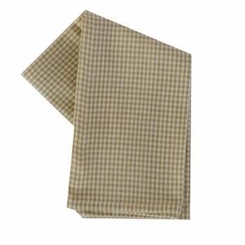 "Mini Check 20""x28"" Tea Towel- Wheat & Cream"