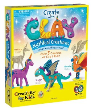 Creativity for Kids Craft Kit- Create with Clay: Mythical Creatures