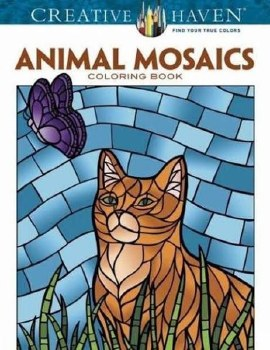 Creative Haven Adult Coloring Book- Animal Mosiacs