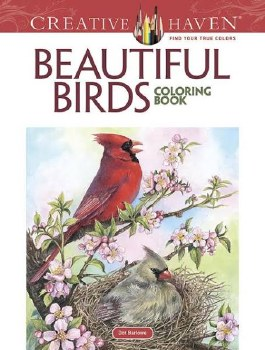 Creative Haven Adult Coloring Book- Beautiful Birds