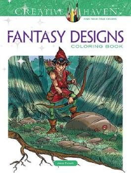 Creative Haven Adult Coloring Book- Fantasy Designs