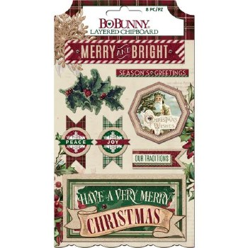 Christmas Treasures Layered Chipboard Stickers