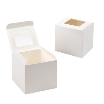 Cupcake Box w/ Window, 3.5""