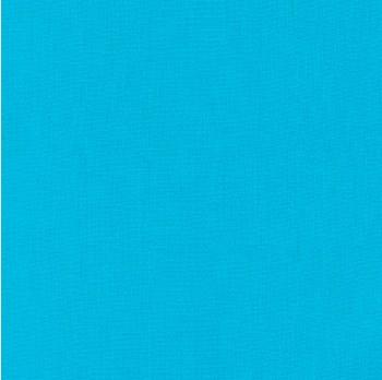 """Kona Cotton 44"""" Fabric- Blues- Cyan"""