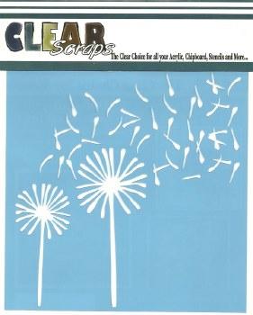 Clear Scraps 12x12 Stencil- Dandelion