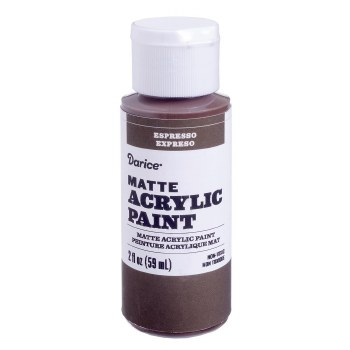 Matte Acrylic Paint, 2oz- Espresso