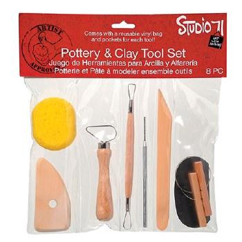 Pottery & Clay Tool Set, 8pc