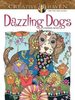 Creative Haven Adult Coloring Book- Dazzling Dogs
