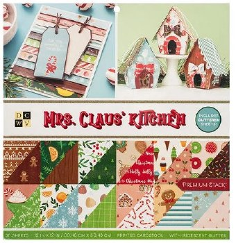 12x12 DCWV Paper Stack- Mrs. Claus' Kitchen