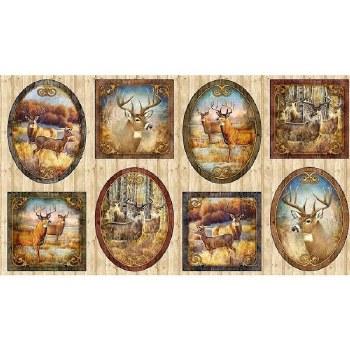 Nature & Wildlife Fabric Panel- Deer Meadow Frames