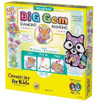 Creativity for Kids Big Gem Craft Kit- Woodland