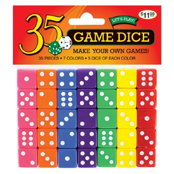35 piece Game Dice