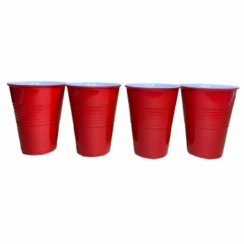 Reusable Melamine Red Solo Cups - 4 Pack