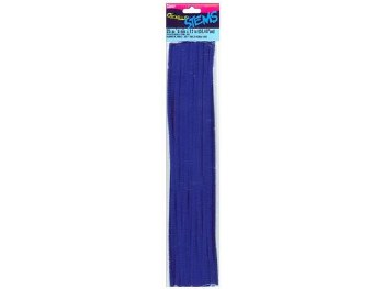 "Darice Chenille Stems 6mm, 12""- Dark Blue"