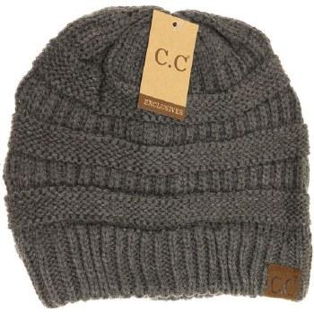 CC Knit Beanie- Dark Grey