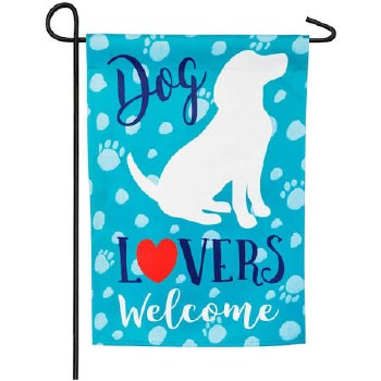 Garden Flag, Suede- Dog Lovers Welcome