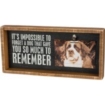 Wood Box Sign w/ Photo Clip- Dog to Remember