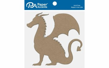 Paper Accents Chipboard- Dragon 6ct