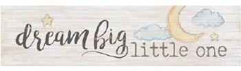 Skinny & Small Wood Sign- Dream Big Little One