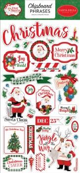 Dear Santa Chipboard Phrases